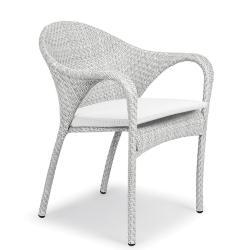 TANGO • Gartenstuhl mit Armlehnen • Bronze oder Basalto • exklusive Sitzkissen • DEDON