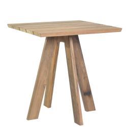TARIFA • Bistrotisch / Gartentisch • 70×70cm • recyceltes Teakholz • BOREK
