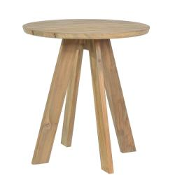 TARIFA • Bistrotisch / Gartentisch • Ø70cm • recyceltes Teakholz • BOREK