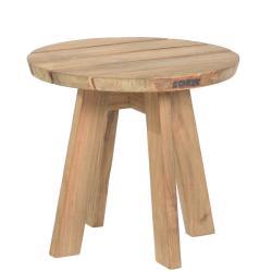 TARIFA • Outdoor Beistelltisch • Ø45,5×H42,5cm • recyceltes Teakholz • BOREK