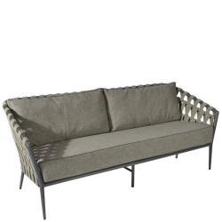 TAVIRA • Outdoor 2-Sitzer Sofa • Alu Anthrazit • Gurtbespannung Schiefer • BOREK