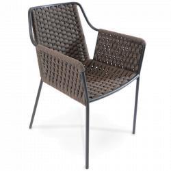 TESO • Gartenstuhl mit Armlehnen • Basalt • Fischer Möbel