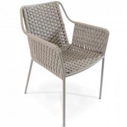 TESO • Gartenstuhl mit Armlehnen • Stone • Fischer Möbel