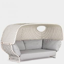 TIGMI • Sofa mit abnehmbarem Dach • Dachfarben Chalk oder Naturel • DEDON