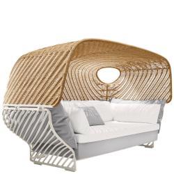 TIGMI • Sofa mit abnehmbarem Dach • inkl. zusätzlichem Polsterset • Dachfarben Chalk oder Naturel • DEDON