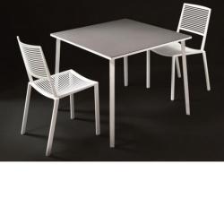 TILE • Gartentisch / Esstisch • 100x100 • diverse Gestellfarben und Feinsteinzeugplatten wählbar • FAST