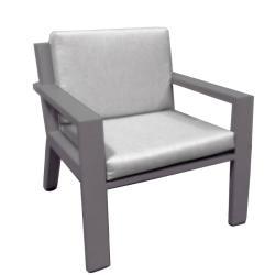 VIKING • Low Dining Sessel • Aluminium Anthrazit, Weiss oder Perlgrau • BOREK