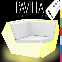 VONDOM FAZ • Lounge-Eckmodul 90° • beleuchtet RGB LED • diverse Ausführungen