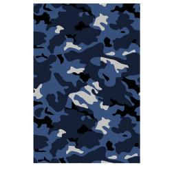 VONDOM Outdoor-Teppich CAMO • 200 x 300cm • Farbe blau