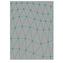 VONDOM Outdoor-Teppich KOI • 200 x 300cm • Farbe grau / grün