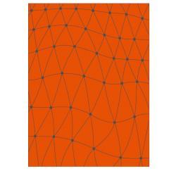 VONDOM Outdoor-Teppich KOI • 200 x 300cm • Farbe orange / grau