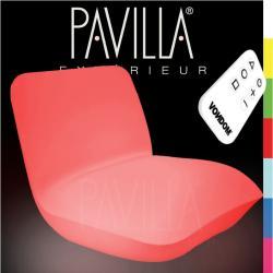 VONDOM PILLOW • Loungesessel • beleuchtet RGB • 7 Farben • inkl. Fernbedienung