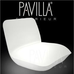 VONDOM PILLOW • Loungesessel • beleuchtet weiß