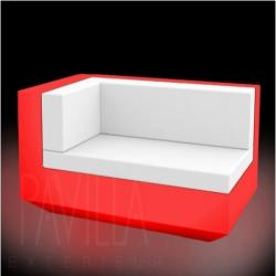 VONDOM VELA • Lounge-Modul Chaiselongue LINKS • beleuchtet RGB LED • diverse Ausführungen