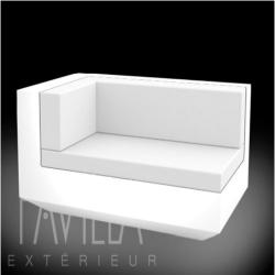 VONDOM VELA • Lounge-Modul Chaiselongue LINKS • beleuchtet weiß