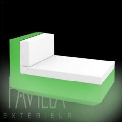 VONDOM VELA • Lounge-Modul Chaiselongue OHNE ARMLEHNE • beleuchtet RGB LED • diverse Ausführungen