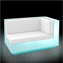 VONDOM VELA • Lounge-Modul Chaiselongue RECHTS • beleuchtet RGB LED • diverse Ausführungen