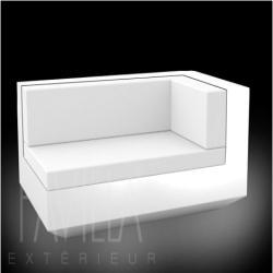 VONDOM VELA • Lounge-Modul Chaiselongue RECHTS • beleuchtet weiß