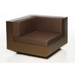 VONDOM VELA Lounge-Modul ECKE • Oberfläche matt in diversen Farben