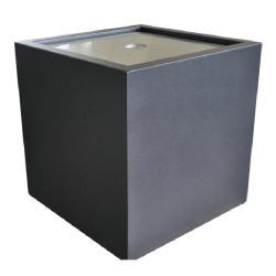 WASSERKUBUS • 70x70cm • GARTENSILBER