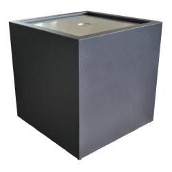 WASSERKUBUS • 80x80cm • GARTENSILBER