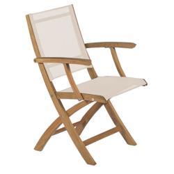 XQI • Gartenstuhl mit Armlehnen / Klappstuhl • Weiß • ROYAL BOTANIA