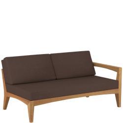 ZENHIT • Outdoor Loungemodul 2-Sitzer Sofa • Armlehne LINKS • Teakholz • Polster exklusive • ROYAL BOTANIA
