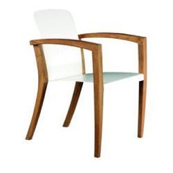 ZIDIZ • Gartenstuhl mit Armlehnen / Stapelstuhl • Sitzschale in Weiß, Schwarz oder Sand • ROYAL BOTANIA
