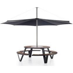 Zubehör InUmbra • Schirm Ø400cm • Weiß, Schwarz oder Taupe • für Gargantua & Pantagruel • inkl.Tischverbinder • EXTREMIS